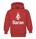 Christmas Tree Silhouette Childrens Glow in Dark Hoodie
