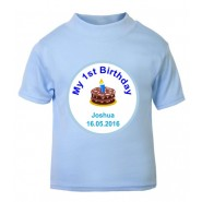 My 1st Birthday Boy Any Name + Date Childrens T-Shirt