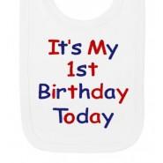 It's My 1st Birthday Today Boy Baby Bib