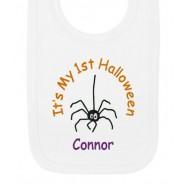 It's My 1st Halloween Spider Baby Bib