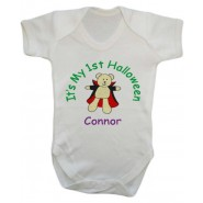 It's My 1st Halloween Vampire Any Name Baby Vest