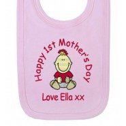 Happy 1st Mother's Day Baby Bib