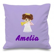 Angel Any Name Embroidered Cushion