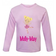 Ballerina Any Name Childrens Printed T-Shirt