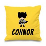 Bat Boy Any Name Printed Cushion