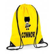 Bat Boy Any Name Drawstring Bag