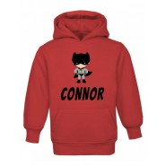 Bat Boy Any Name Childrens Hoodie