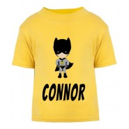 Bat Boy Any Name Childrens Printed T-Shirt