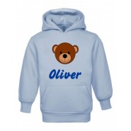 Teddy Bear Face Any Name Childrens Hoodie
