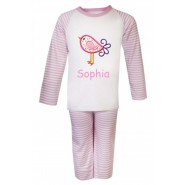 Bird Any Name Embroidered Pyjamas