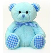 Blue Gingham Bear