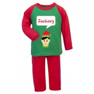 Christmas Boy Elf Any Name Childrens Pyjamas