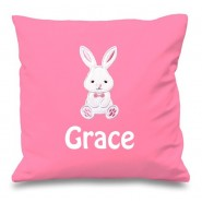 Bunny Rabbit Any Name Embroidered Cushion
