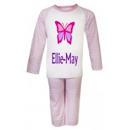 Butterfly Any Name Childrens Pyjamas