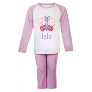 Butterfly Any Name Embroidered Pyjamas
