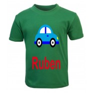 Car Any Name Childrens Printed T-Shirt