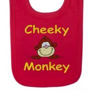 Cheeky Monkey Baby Bib