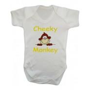 Cheeky Monkey Baby Vest
