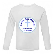 Christening Boy Any Name + Date Childrens Printed T-Shirt