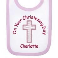 On Your Christening Day Girl Baby Bib