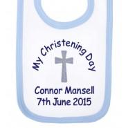 My Christening Day Name + Date Boy Baby Bib