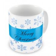 Merry Christmas Snowflakes Mug
