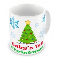 Baby's 1st Christmas + Text Mug