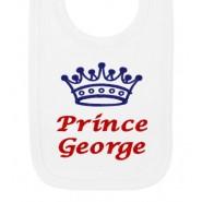 Prince Any Name Crown Baby Bib