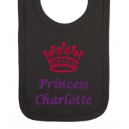 Princess Any Name Crown Baby Bib