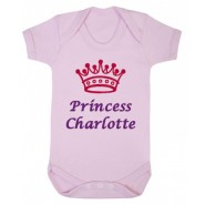 Princess Any Name Crown Baby Vest