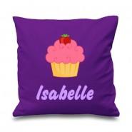 Cupcake Any Name Printed Cushion
