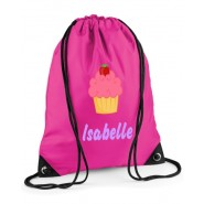 Cupcake Any Name Drawstring Bag