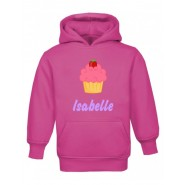 Cupcake Any Name Childrens Hoodie