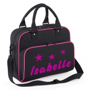 Diagonal Stripes + Stars Any Name Junior Dance Bag