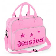 Dots + Stars Any Name Junior Dance Bag