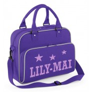 Zig Zags + Stars Any Name Junior Dance Bag