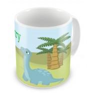 Dinosaurs + Name Mug