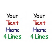 Text Only (4 Lines Both Ears) Design