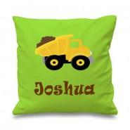 Dump Truck Any Name Printed Cushion