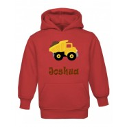Dump Truck Any Name Childrens Hoodie