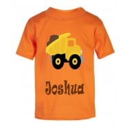 Dump Truck Any Name Childrens Printed T-Shirt