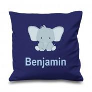 Elephant Any Name Printed Cushion