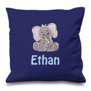 Elephant Any Name Embroidered Cushion
