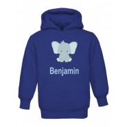 Elephant Any Name Childrens Hoodie
