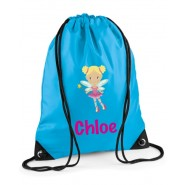 Fairy Any Name Drawstring Bag