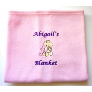 Choose Embroidered Design + Text Baby Cotton / Fleece Blanket