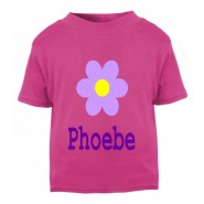 Flower Any Name Childrens Printed T-Shirt