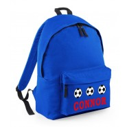 Football Any Name Childs Rucksack