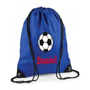 Football Any Name Drawstring Bag