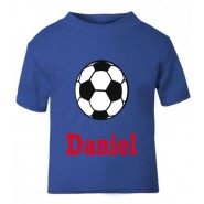 Football Any Name Childrens Printed T-Shirt